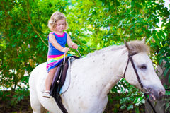 Little girl on a horse Royalty Free Stock Image