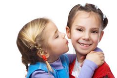 Little girl hugged her sister Royalty Free Stock Photos