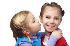 Little girl hugged her sister Royalty Free Stock Photos