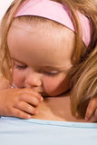 Little girl hugging her mother Stock Photo