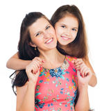 Little girl hugging her mother Royalty Free Stock Photo