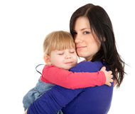 Little girl hugging to mother, Royalty Free Stock Image
