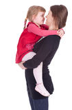 Little girl hugging to mother Royalty Free Stock Image