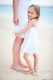 Little girl hugs her mom Royalty Free Stock Images