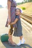 Little girl hugs her mom Royalty Free Stock Photos