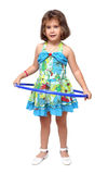 Little girl with hula hoop Royalty Free Stock Photo