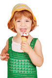 Little girl with ice cream Stock Photo