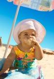 Little Girl with ice cream Stock Image