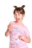 Little girl an ice cream Royalty Free Stock Photo