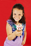 Little girl with ice cream. In studio isolated Stock Photography