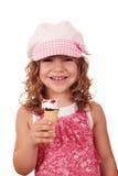 Little girl with ice cream Stock Photo
