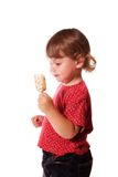 Little Girl and Ice Cream Stock Images