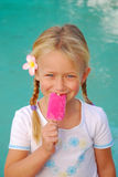 Little girl with ice-cream royalty free stock photos