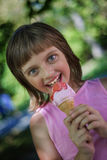 Little girl with ice cream Royalty Free Stock Photo