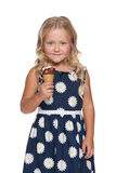 Little girl with ice cream Royalty Free Stock Image