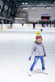 Little girl ice skating Royalty Free Stock Image