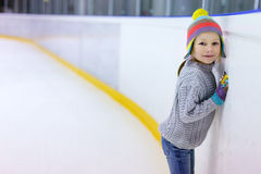 Little girl ice skating Stock Photography