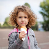 Little girl with icecream in the park Stock Photo