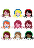 Little girl icons Stock Image