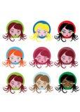 Little girl icons Stock Image
