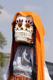 Little girl II. Representation of death as part of the celebration of the day of the dead in mexico city Royalty Free Stock Images