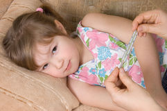 The little girl is ill Royalty Free Stock Photo
