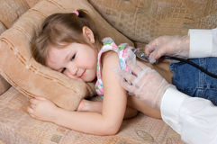 The little girl is ill Royalty Free Stock Image