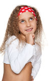 Little girl imagines Royalty Free Stock Photo