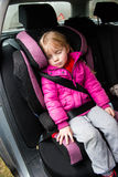 Little Girl In A Car Seat Stock Image