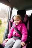 Little Girl In A Car Seat Royalty Free Stock Image