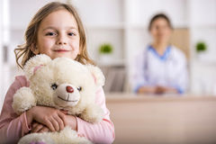 Free Little Girl In A Doctor Stock Image - 53014871