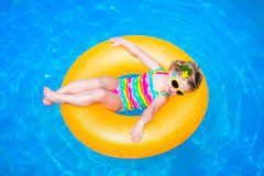 Free Little Girl In A Swimming Pool Stock Photo - 50908600