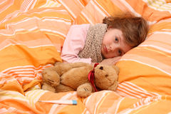 Free Little Girl In Bed Stock Photography - 7713682