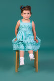 Little Girl In Blue Dress Royalty Free Stock Image