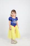 Little Girl In Dress Of Snow White