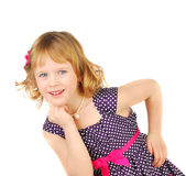 Little Girl In Fashion Dress. Stock Image
