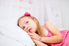 Free Little Girl In Her Room Stock Image - 35074421
