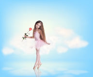 Free Little Girl In Sky Clouds Stock Images - 61391224