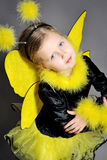 Little Girl In Studio Royalty Free Stock Images