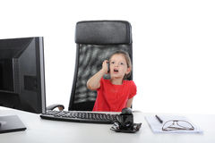 Free Little Girl In The Office Stock Images - 14437454