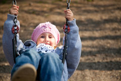 Little Girl In The Swing Stock Image