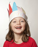 Little girl with Indian headband Royalty Free Stock Photography