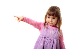 Little girl indicating Royalty Free Stock Image