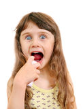 Little Girl with Inhaler Stock Photography