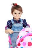 Little girl for interesting occupation. Stock Image