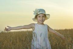 Little  girl inwheat field Stock Photography