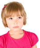 Little girl isolated Stock Photos