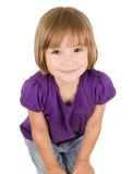 Little girl isolated Royalty Free Stock Images