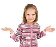 Little girl isolated Royalty Free Stock Photo