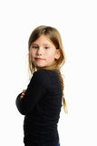 Little girl isolated Royalty Free Stock Photos